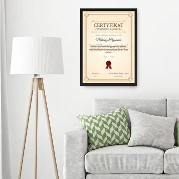 Certyfikat wieczoru kawalerskiego