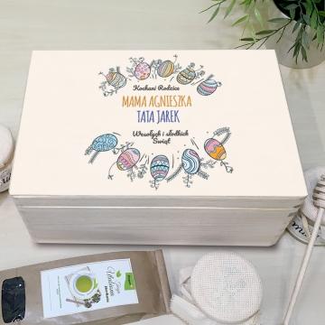Zestaw miodów personalizowanych na Wielkanoc dla rodziców