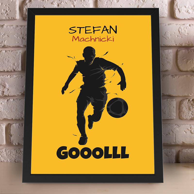 Plakat dla piłkarza