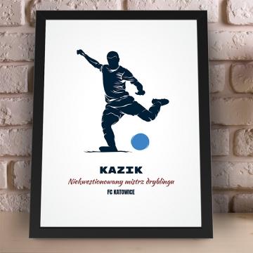 Plakat piłkarza