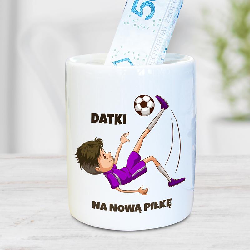 Skarbonka dla piłkarza