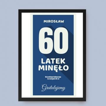 Plakat na 60 urodziny