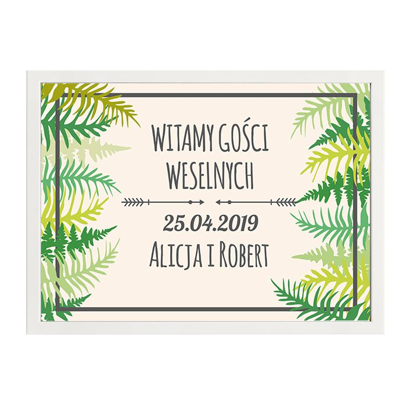 Plakat powitalny wesele