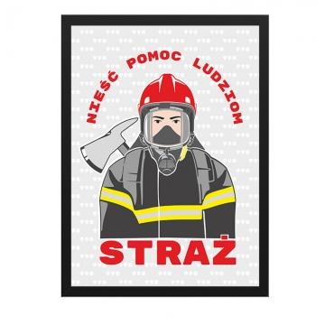 Plakat o strażakach