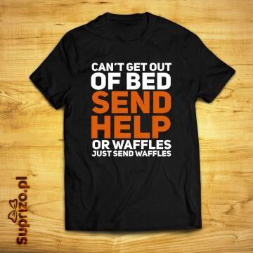 Koszulka z zabawnym hasłem dla leniucha