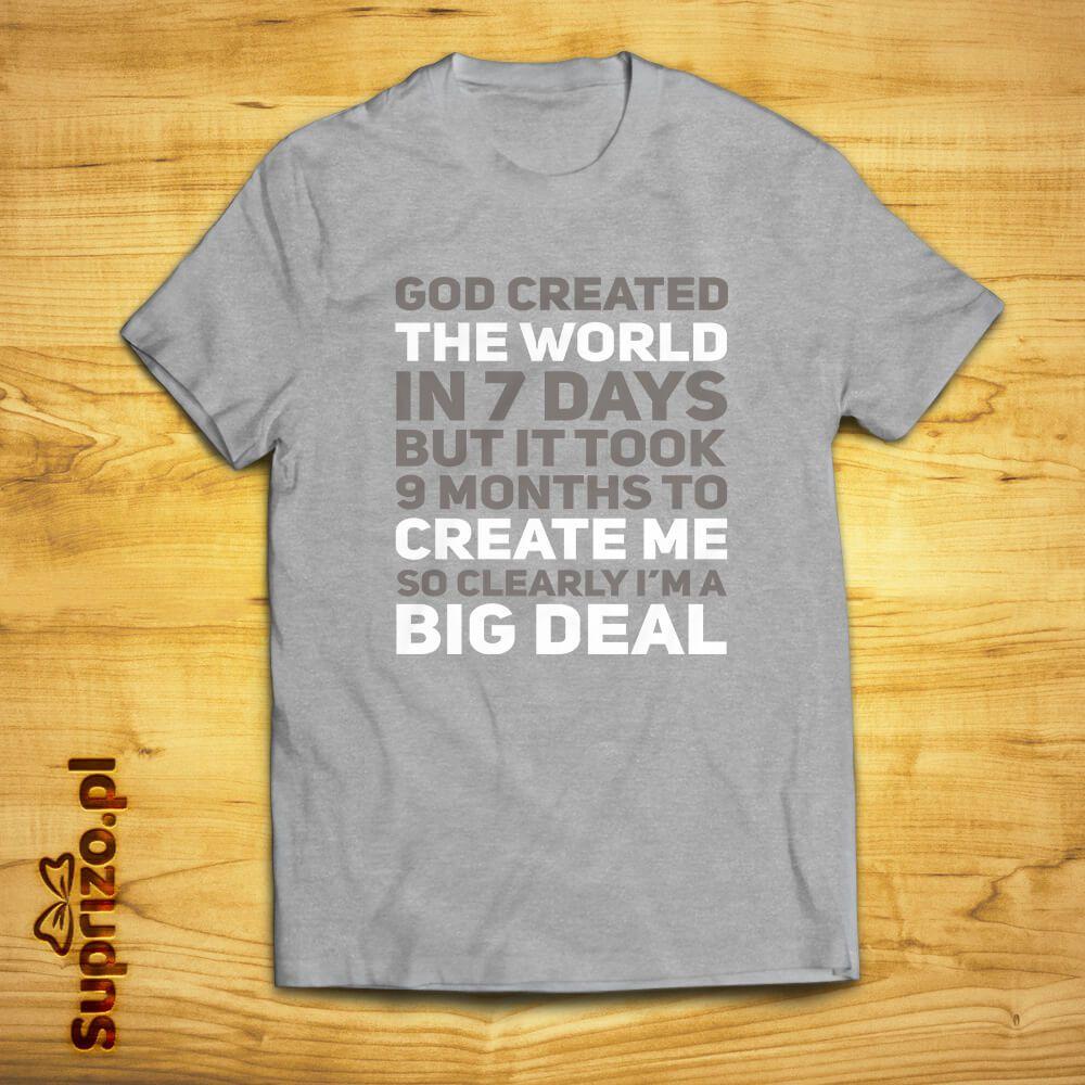 Koszulka z humorystycznym nadrukiem dla ważniaka