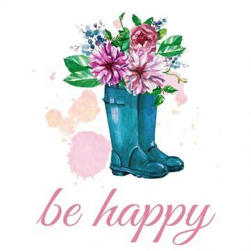 """Kubek uroczym nadrukiem """"Be happy"""""""