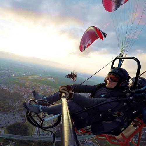 Lot motoparalotnią Zielona Góra