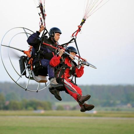 Lot motoparalotnią Toruń
