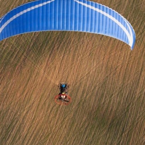 Lot motoparalotnią Giżycko