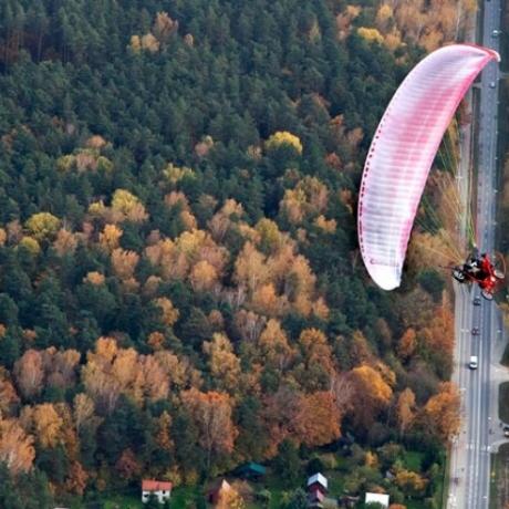 Lot motoparalotnią Kraków