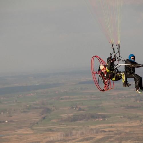 Lot motoparalotnią Śrem