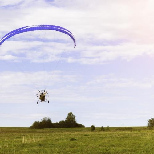 Lot motoparalotnią Kielce