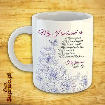 Kubek dla męża z romantycznym napisem
