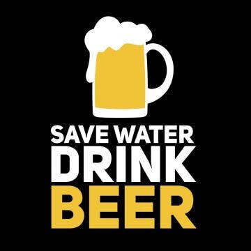 """Koszulka z napisem """"oszczędzaj wodę pij piwo''"""