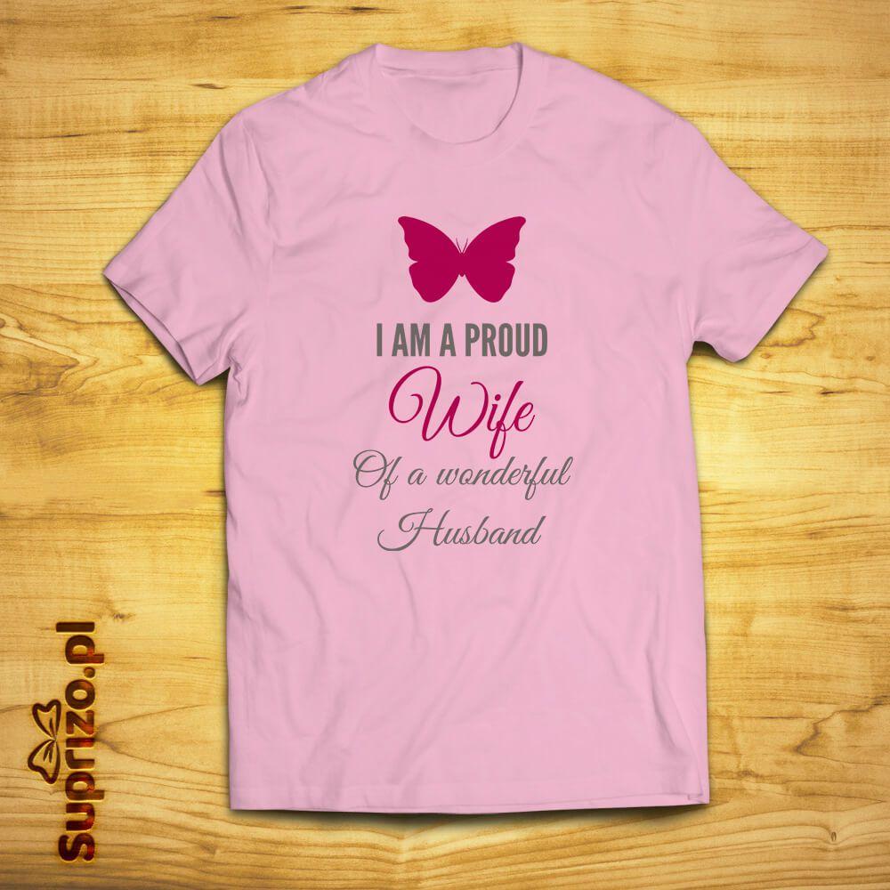 Koszulka z ciekawym nadrukiem dla żony