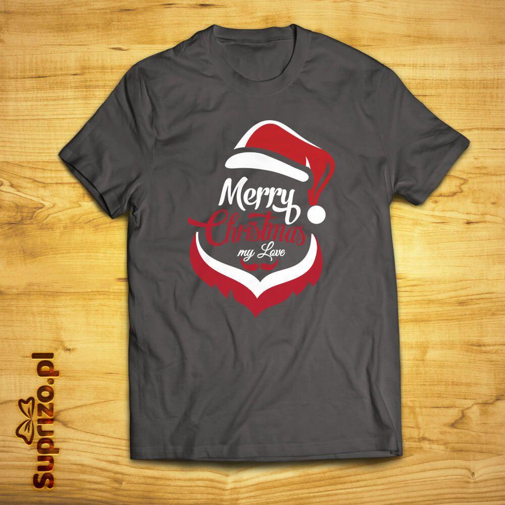 Koszulka ze świątecznym nadrukiem w Mikołaja