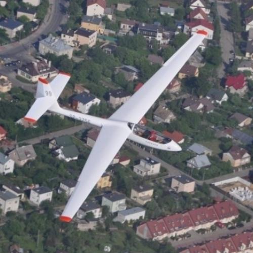 Lot szybowcem Toruń