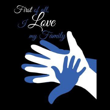 """Koszulka z napisem """"Love My Family"""""""