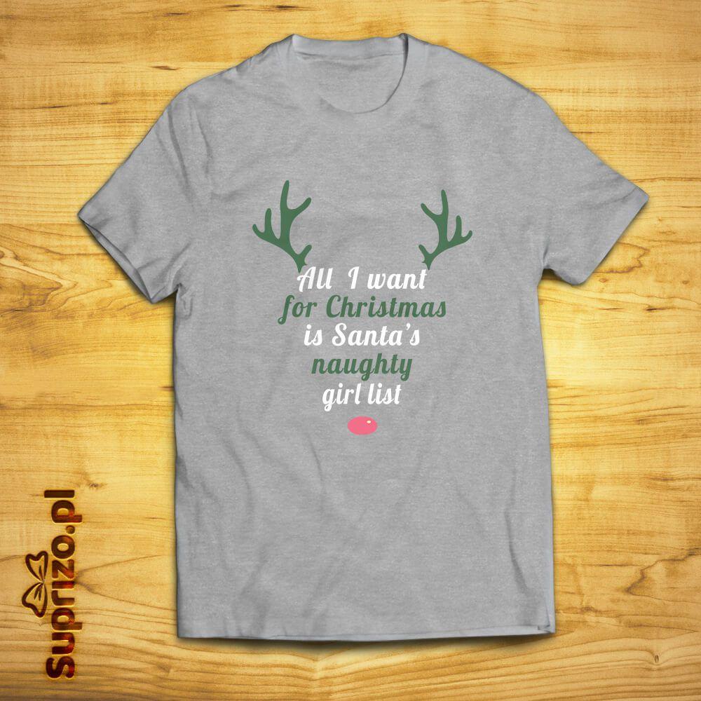Koszulka na święta z humorystycznym mottem dla niego
