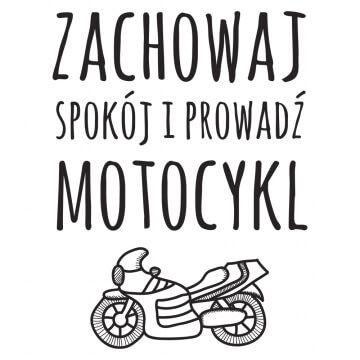 Kubek dla kierowcy motocykla z napisem