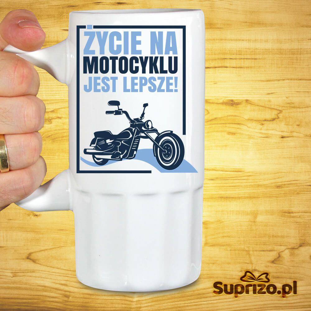 Kufel do piwa dla motocyklisty