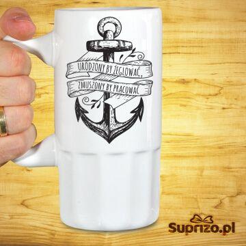 Kufel do piwa dla żeglarza z zabawnym opisem