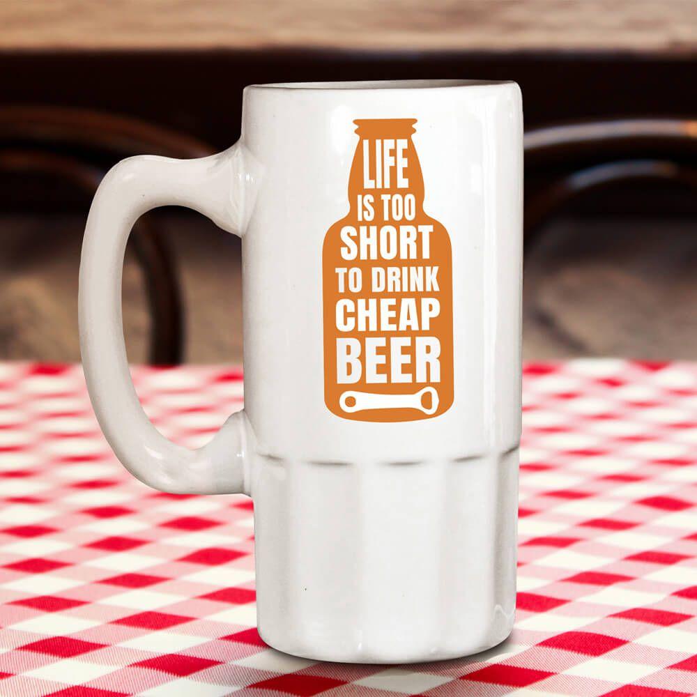 Kufel do piwa ze śmiesznym sloganem