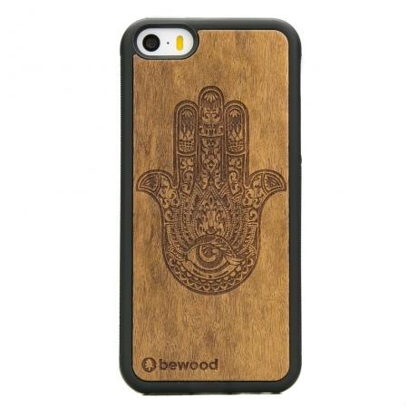 Drewniane Etui iPhone 5/5s/SE HAMSA IMBUIA