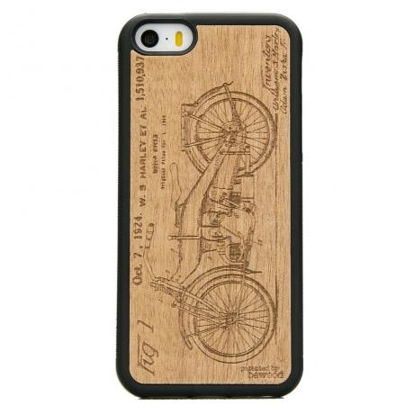 Drewniane Etui iPhone 5/5s/SE HARLEY PATENT ANIEGRE