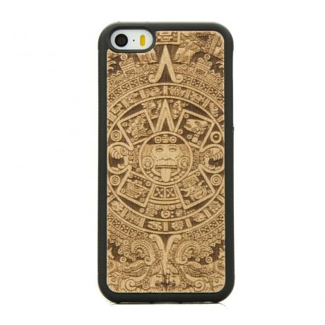 Drewniane Etui iPhone 5/5s/SE KALENDARZ AZTECKI ANIEGRE