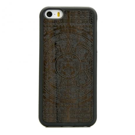 Drewniane Etui iPhone 5/5s/SE KALENDARZ AZTECKI ZIRICOTE