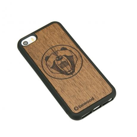 Drewniane Etui iPhone 5/5s/SE NIEDŹWIEDŹ MERBAU
