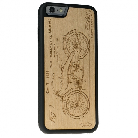 Drewniane Etui iPhone 6 Plus / 6s Plus HARLEY PATENT ANIEGRE