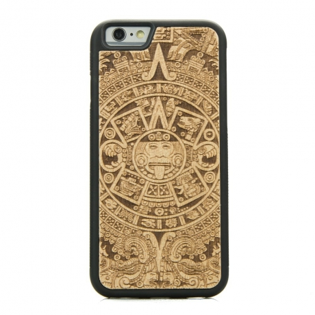 Drewniane Etui iPhone 6 Plus / 6s Plus KALENDARZ AZTECKI ANIEGRE