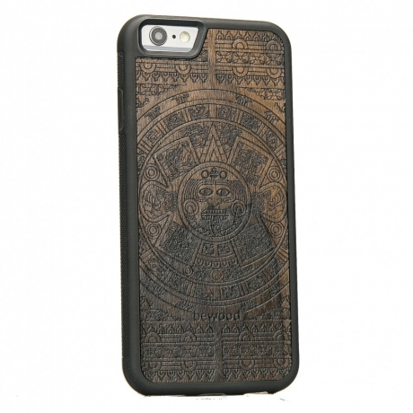 Drewniane Etui iPhone 6 Plus / 6s Plus KALENDARZ AZTECKI ZIRICOTE
