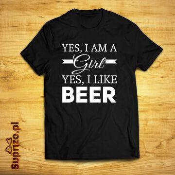 Koszulka dla fanki piwa ze śmiesznym nadrukiem