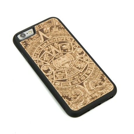 Drewniane Etui iPhone 6/6s KALENDARZ AZTECKI ANIEGRE