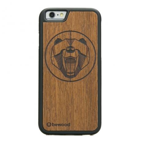 Drewniane Etui iPhone 6/6s NIEDŹWIEDŹ MERBAU