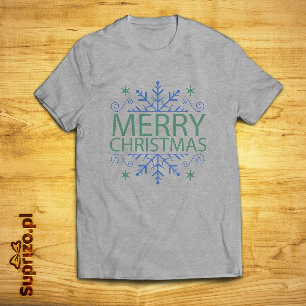 Świąteczna koszulka z napisem Wesołych Świąt