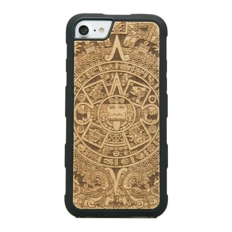Drewniane Etui iPhone 6/6s/7/8 KALENDARZ AZTECKI ANIEGRE HEAVY