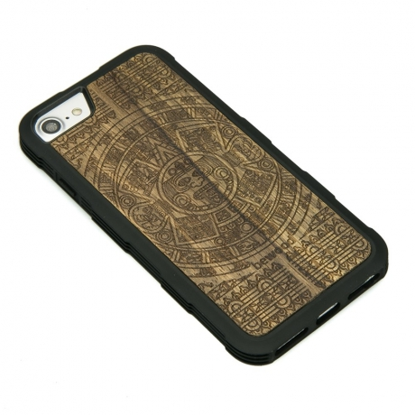 Drewniane Etui iPhone 6/6s/7/8 KALENDARZ AZTECKI LIMBA HEAVY
