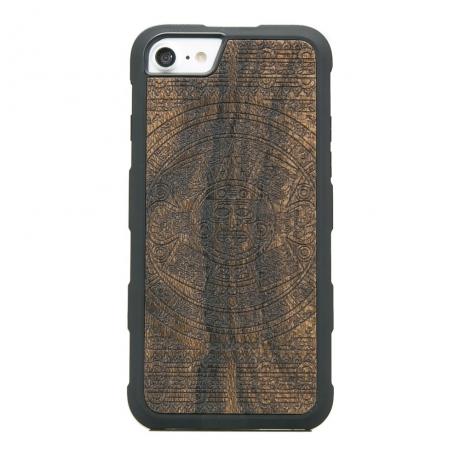 Drewniane Etui iPhone 6/6s/7/8 KALENDARZ AZTECKI ZIRICOTE HEAVY