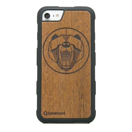 Drewniane Etui iPhone 6/6s/7/8 NIEDŹWIEDŹ MERBAU HEAVY