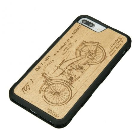 Drewniane Etui iPhone 6/6s/7/8 Plus HARLEY PATENT ANIEGRE HEAVY