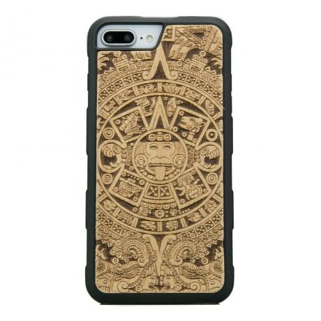 Drewniane Etui iPhone 6/6s/7/8 Plus KALENDARZ AZTECKI ANIEGRE HEAVY