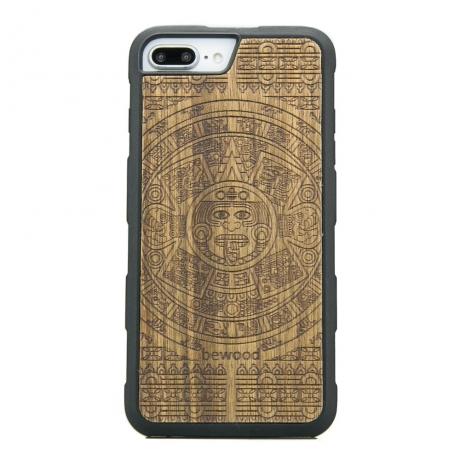 Drewniane Etui iPhone 6/6s/7/8 Plus KALENDARZ AZTECKI LIMBA HEAVY