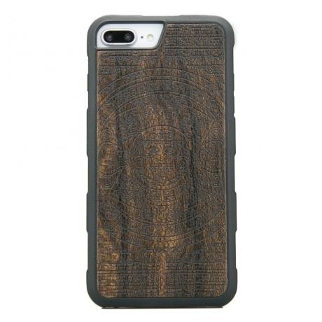 Drewniane Etui iPhone 6/6s/7/8 Plus KALENDARZ AZTECKI ZIRICOTE HEAVY