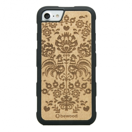 Drewniane Etui iPhone 6/6s/7/8 POLSKI FOLK ANIEGRE HEAVY
