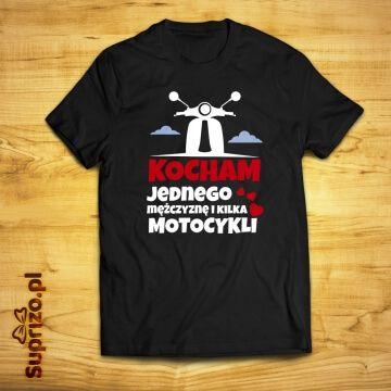 Koszulka dla motocyklistki z motorem i napisem
